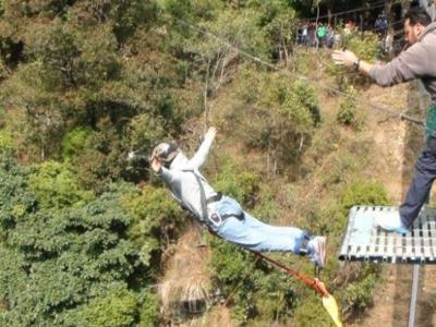 Bunjee Jumping In Nepal
